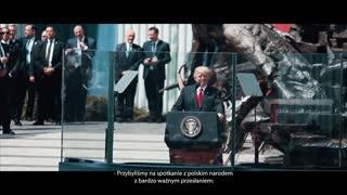 Part of President Donald Trump inspirational speech in Poland (2017)