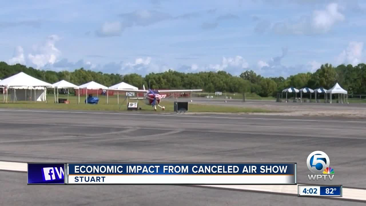 Economic impact from canceled air show
