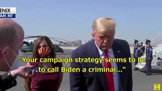 Why did you call Biden a criminal?