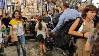 Jerusalem market at night