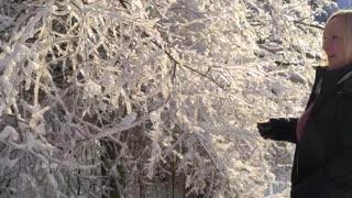 Slow motion falling ice