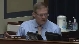 Jim Jordan Goes On Furious Tirade Against Democrats Politicizing Oversight Committee