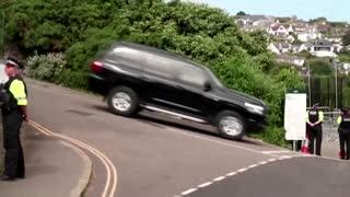 Biden motorcade arrives at G7 summit site