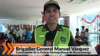Policía de Bucaramanga lleva la Navidad a niños en el Hospital Internacional