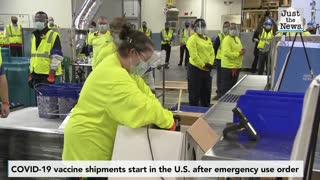 COVID-19 vaccine shipments start in the U.S. following emergency use order