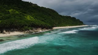 Calming Coast Bay With Ocean