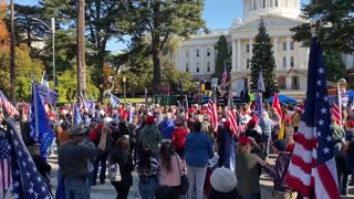 StopTheSteal _ California State Capitol Protest Sacramento, CA Week 4 November 28, 2020 IMG 2807