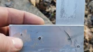 Crude aluminum square with no welding
