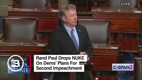 Rand Paul Drops TRUTH On Plans for Second Impeachment