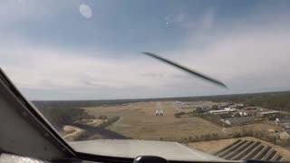 Landing at Plymouth, MA KPYM