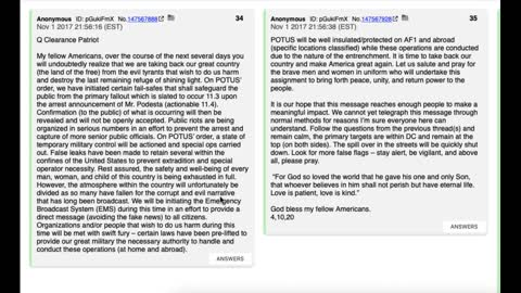 Retrospective Look At Early Q Intel As It Relates To 2016 Election Video