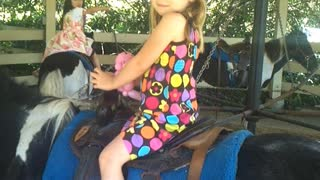 Getting ready to ride a pony