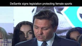 Ron DeSantis signs legislation protecting female sports