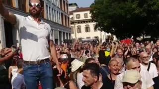 Milan, Italy Lockdown Protests Erupt 7-24-21