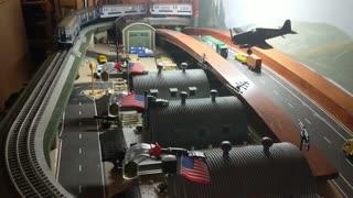 NYT R17 Rail King Subway O Guage train layout pt 2