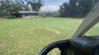 Flying over Guatemala Coffee Farm near Takalik