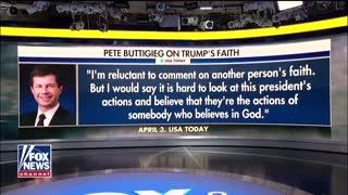 Pete Buttigieg questions President Trump's belief in God
