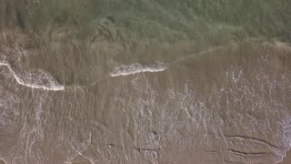Drone View of the Ocean Waves Splashing stock video