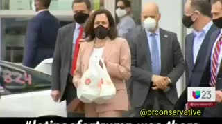 Kamala Harris confronted by latino Trump supporters!