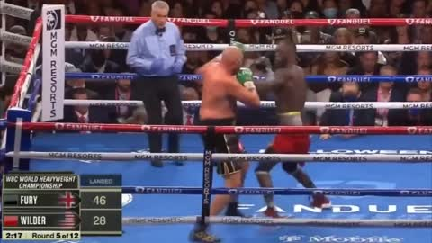 Tyson Fury beats Deontay Wilder by TKO in epic boxing match in which both survived knock downs