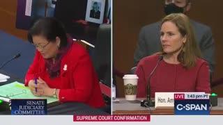 Sen. Hirono Stuns, Asks Amy Coney Barrett If She's Sexually Assaulted Anyone