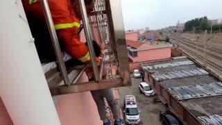 4yo Boy Hanging From 3rd-Floor Burglar Bars Rescued
