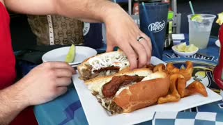 Nude Food Review - MASSIVE PHILLY CHEESE STEAK
