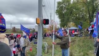 Biden - PA, Greeted with Massive Trump Roadside Rally!
