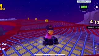 Mario Kart Tour - Peach Parasol Glider Gameplay (Cat Tour Token Shop Reward)