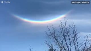 Arco-íris de 'ponta-cabeça' é visto em Nova Iorque