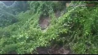 Video registró inundación y deslizamiento de tierra en Hato, Santander