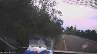 Risky Overtake Leads to Road Rash