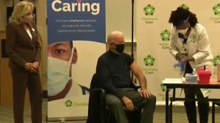 Joe Biden recibe dosis de la vacuna de Pfizer y BioNtech