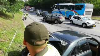 Video: Accidente en Piedecuesta dejó a dos personas heridas