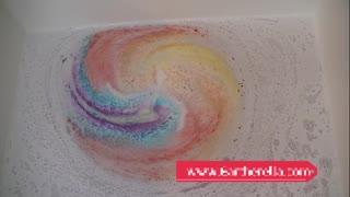 Cloud Bath bomb with Rainbow surprise!