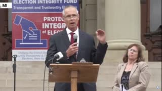 John Riley Michigan State Representative at Audit the vote rally