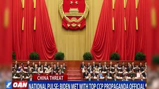 Did Biden met with top CCP propaganda official?