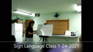 Sign Language Class 3