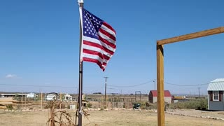 American flag still flies!
