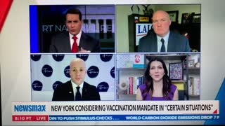 Lalor on Newsmax Discussing COVID-19 Vaccine Mandate Bill