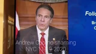 Andrew Cuomo shaming NYC