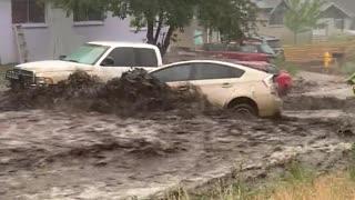 Intense Flooding Carries Cars Away