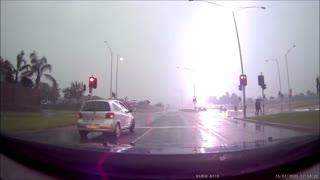 Lightning Strikes During Drive