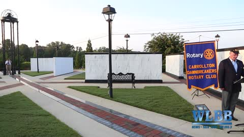 Carrollton Dawn Breakers Rotary Club hosted a 9/11 Memorial Service at the Carroll Co Memorial Park