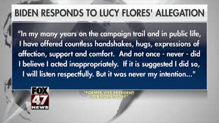 Biden responds to Lucy Flores' inappropriate allegations