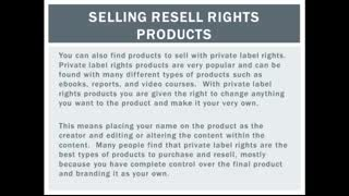 Selling Resell Rights Products