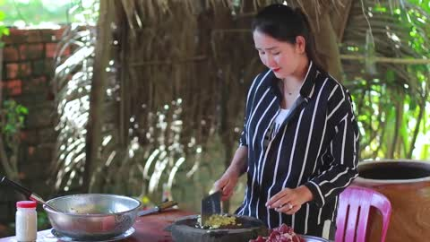 Beef Deep Stir Fry Cooking - Beef Recipe - Cooking With Sros