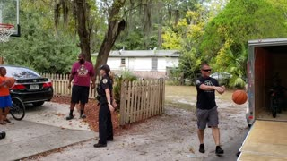 Police Replace Boy's Stolen Basketball Hoop