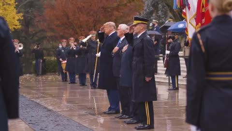 """""""PRESIDENT TRUMP ALWAYS TAKES CARE OF OUR MILITARY"""" - Happy Veterans Day - Remembrance Day"""