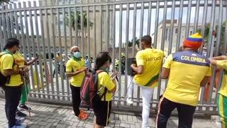 Protesta de deportistas de Bolívar
